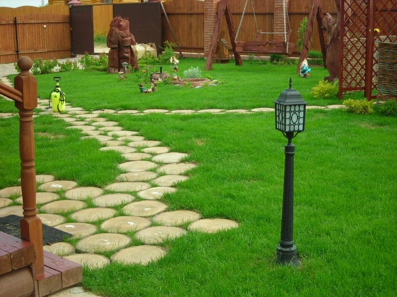 Садовые дорожки на даче фото
