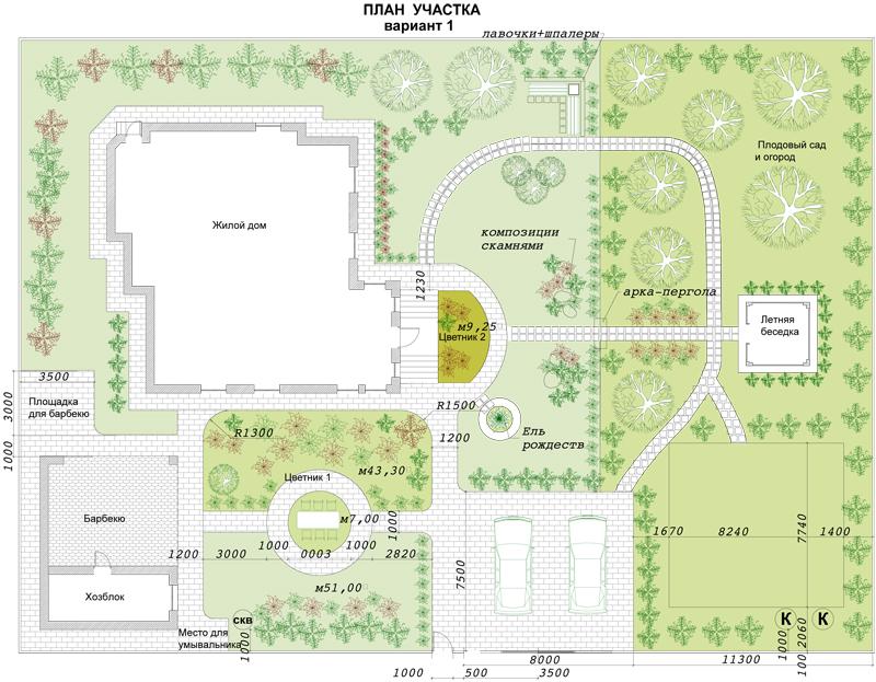 Ландшафтный дизайн планировка 12 соток