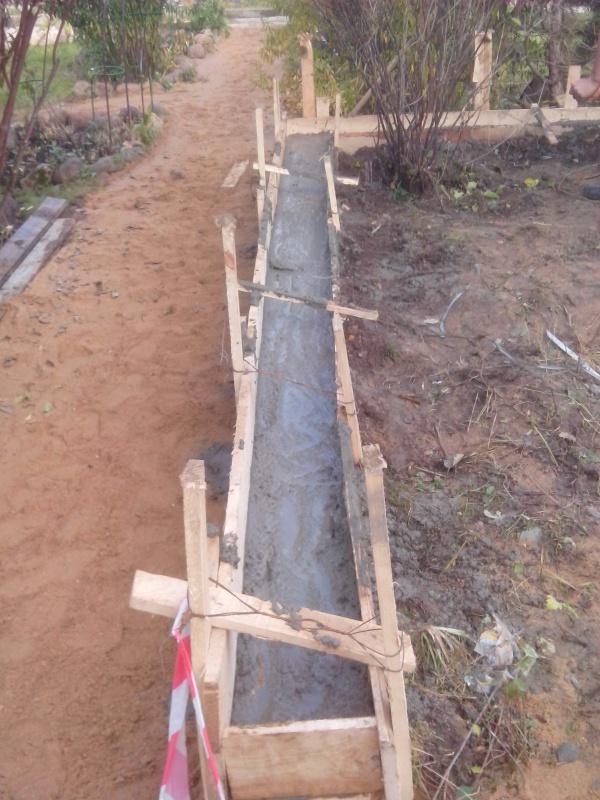Опорная стена из бетона своими руками